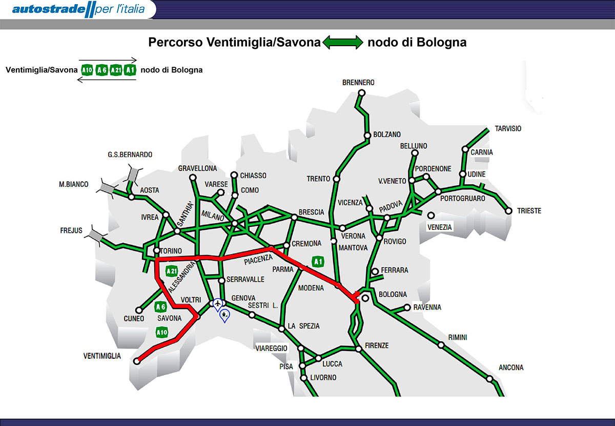 Cartina Dell Italia Con Autostrade.Autostrade Per Genova Autostrade Per L Italia